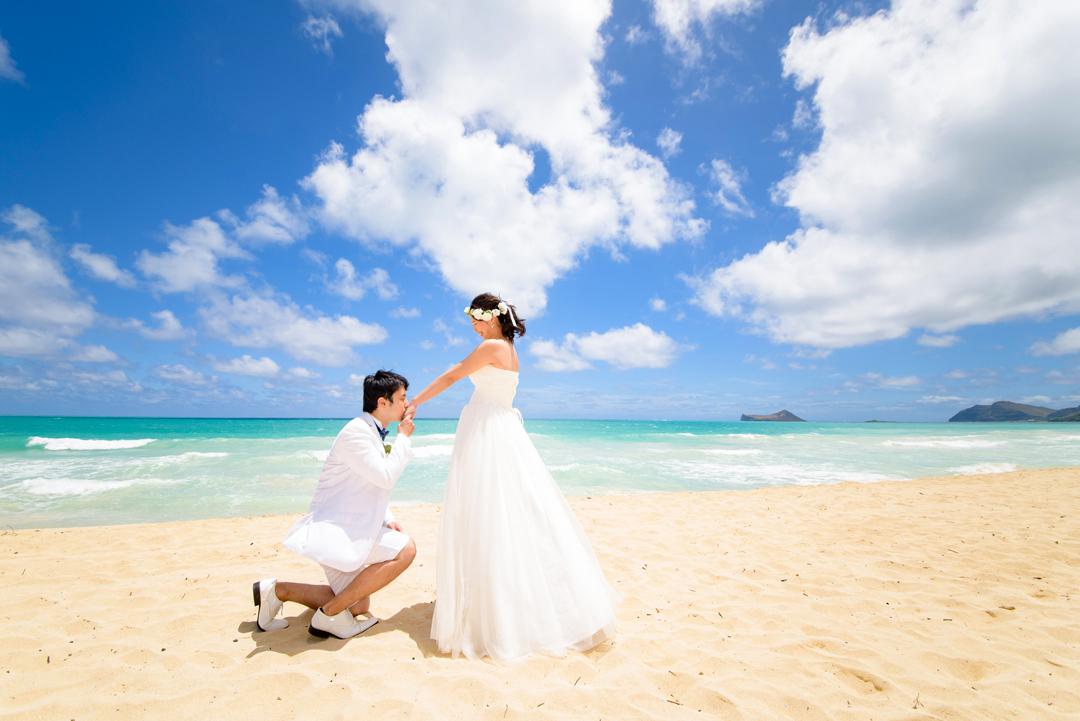 ワイマナロビーチでロマンチックな演出