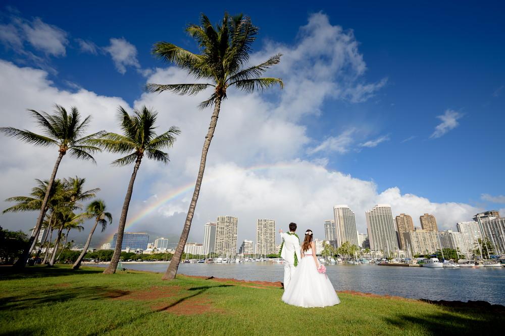ハワイと虹