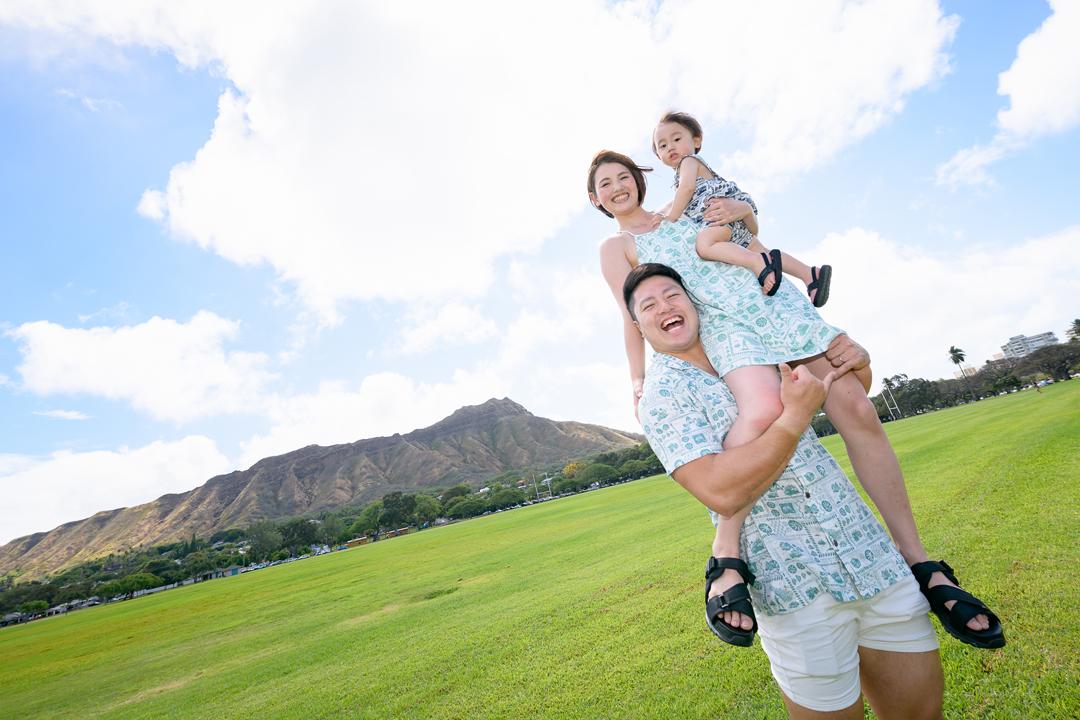 仲良しファミリーのハワイ2ロケーション撮影
