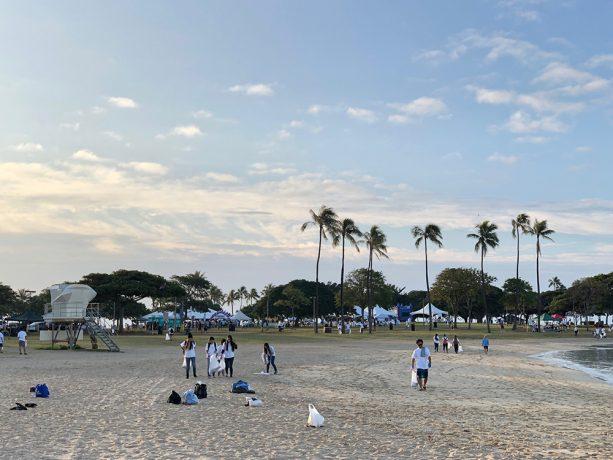 10月ハワイビーチクリーンアップ@マジックアイランド